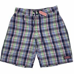 VINEYARD VINES Plaid Board Shorts Swimsuit Trunks